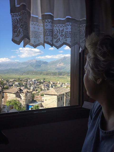 The mountains along the road to Gjirokaster, Albania