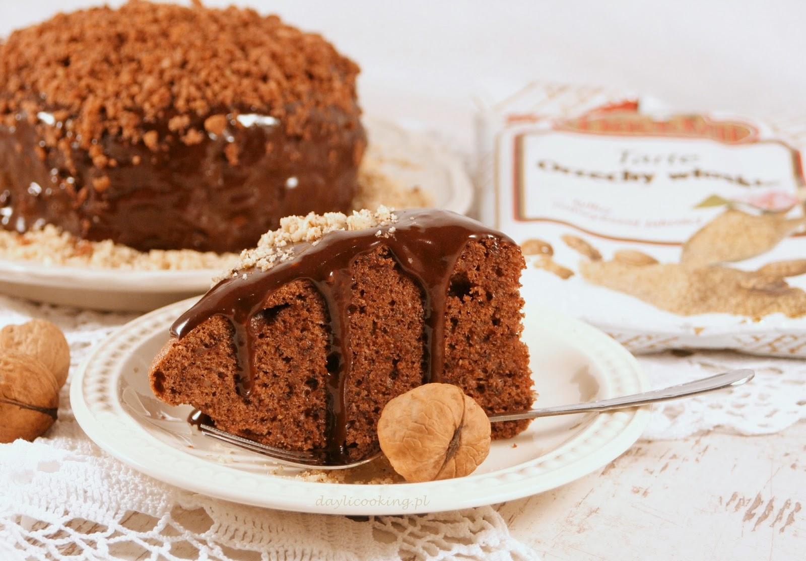 szybkie ciasto z włoskich orzechów, ciasto z orzechami