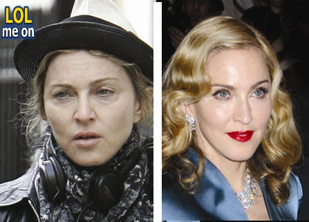 "funny celebrities picture shows Madonna from ""LOL me on"""