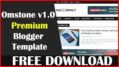 Download Omstone v1.0 - Magazine Blogger Template