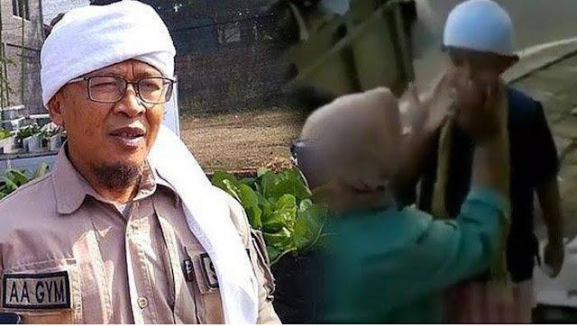 Video Haru Pemulung Dandani Anaknya sebelum ke Masjid, Aa Gym Sampai Komentar