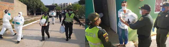 Policía Nacional entrega ayudas en sectores vulnerables de Valledupar