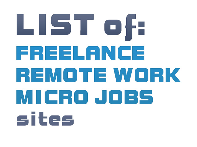 list of freelance, remote work and micro job sites