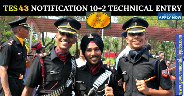 Army-Indian Army Officer Recruitment 2019 for TES 10+2 Course-43