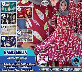 Gamis balotelli motif bunga terbaru model lingkar payung
