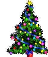 gambar gif pohon natal