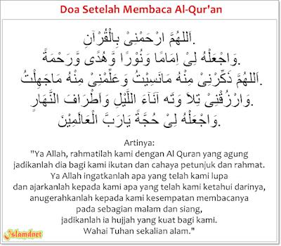 Allah sangat menyukai orang yang selalu membaca Al Quran Doa Setelah Membaca Al Quran Arab Latin dan Artinya