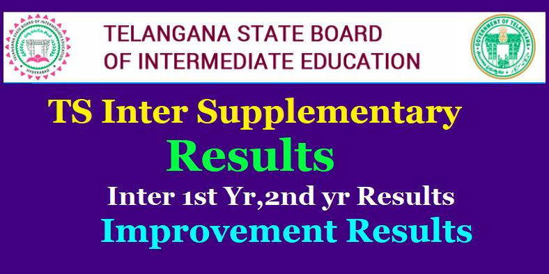 TS Inter Supplementary Results 2019 - Inter 1st Yr,2nd yr