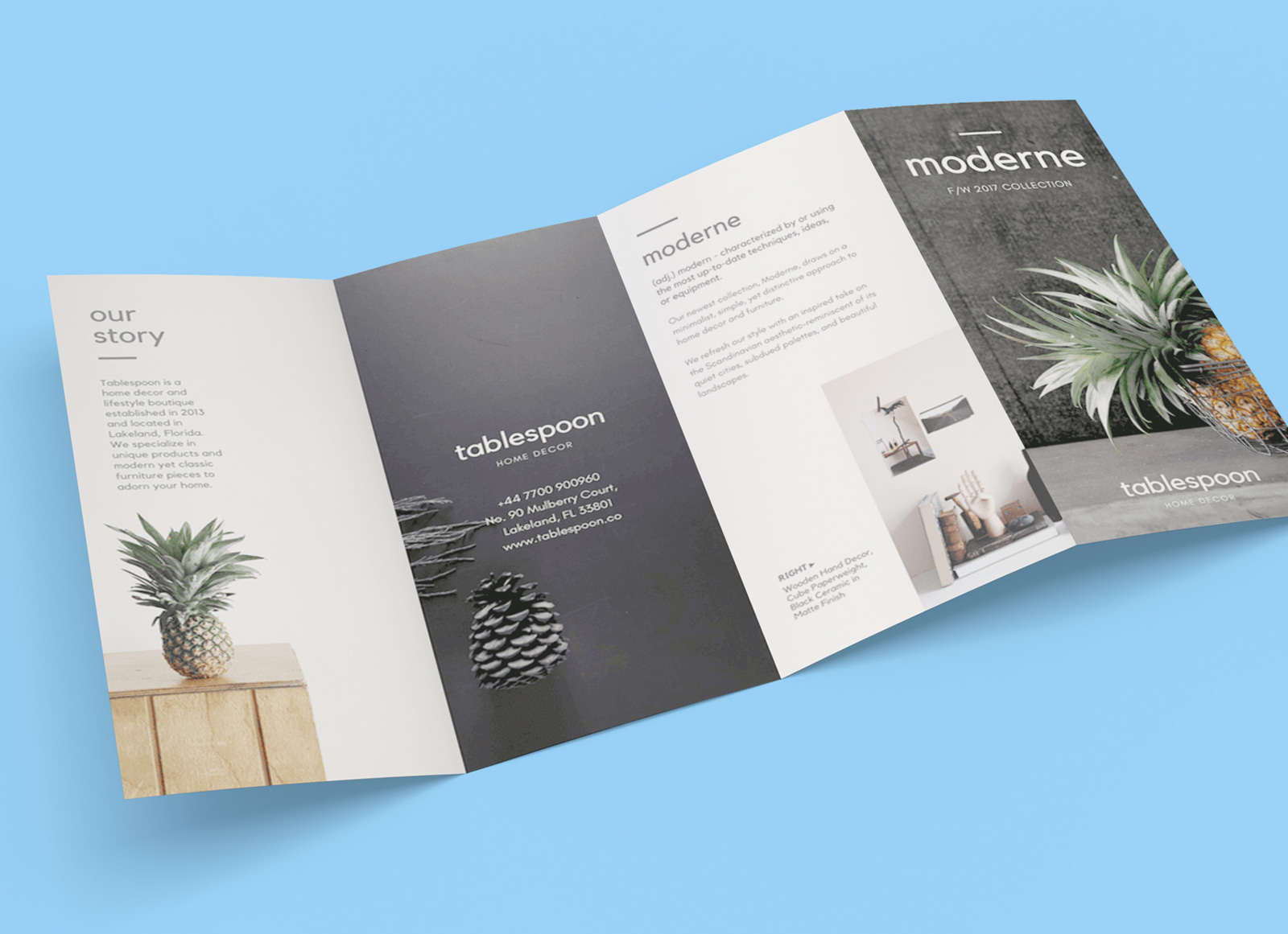 Four Fold Brochure Templates Free Download D Templates