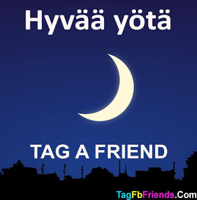 Good Night in Finnish language