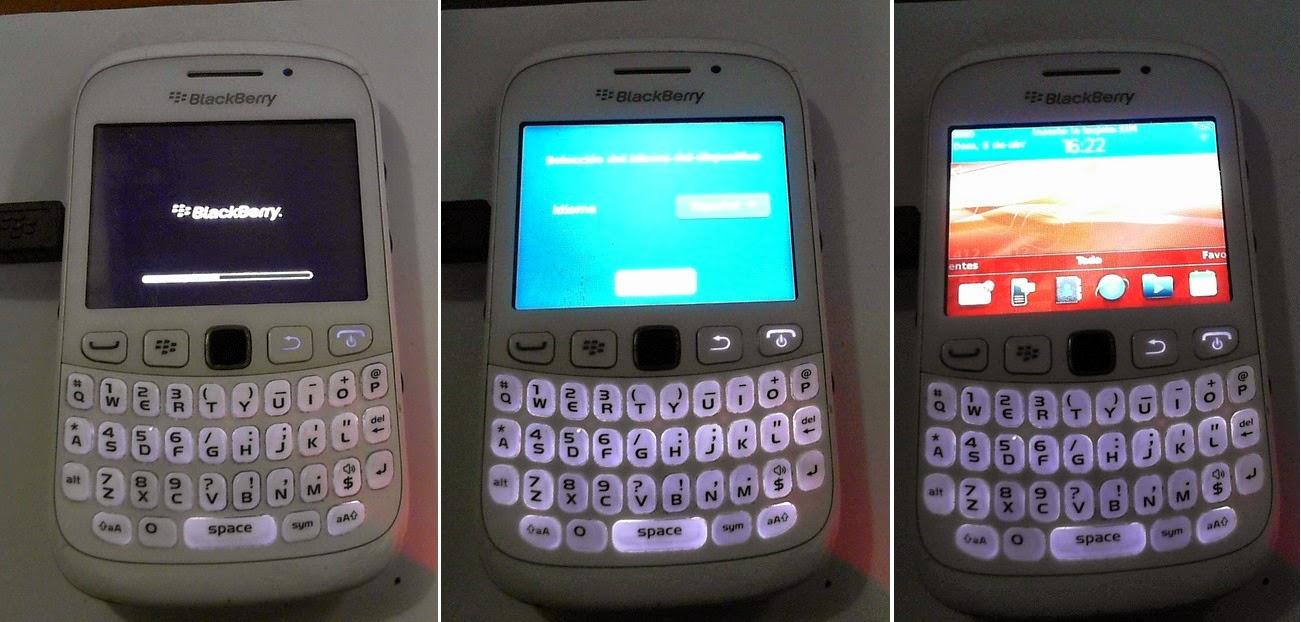Blackberry loading nuevo software.