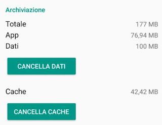 dati e cache android