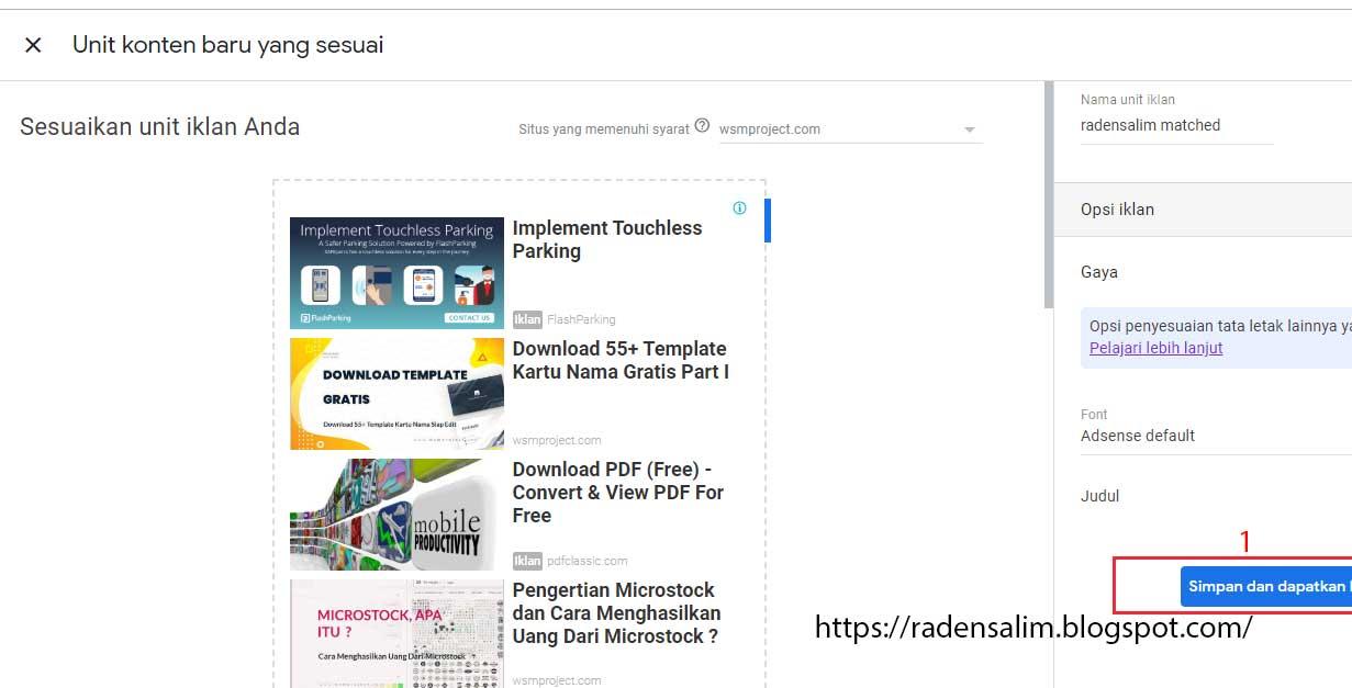 Cara-pasang-Iklan-Adsense-Matched-Content