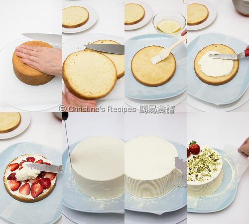 士多啤梨鮮忌廉蛋糕製作圖 Strawberry Cream Cake Procedures02