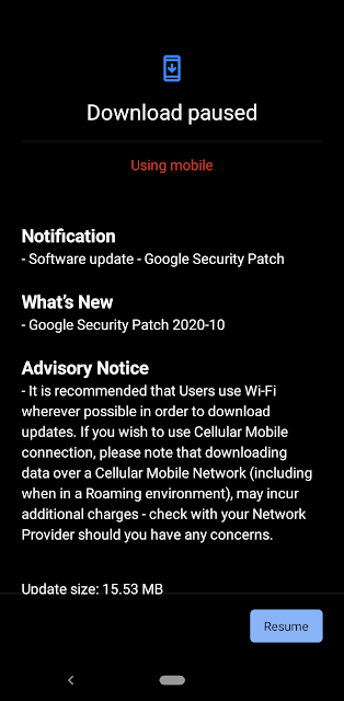 Nokia 4.2 receiving October 2020 Android Security patch