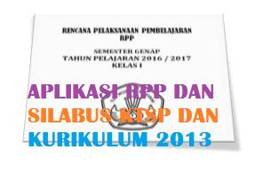 Aplikasi Penyusunan SILABUS dan RPP Kurikulum 2013 dan KTSP