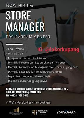 Lowongan Kerja TDS Parfum Center Sebagai Store Manager