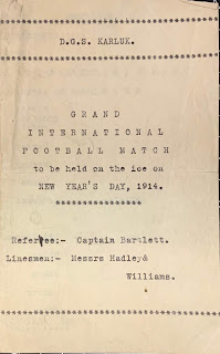 Football match program cover