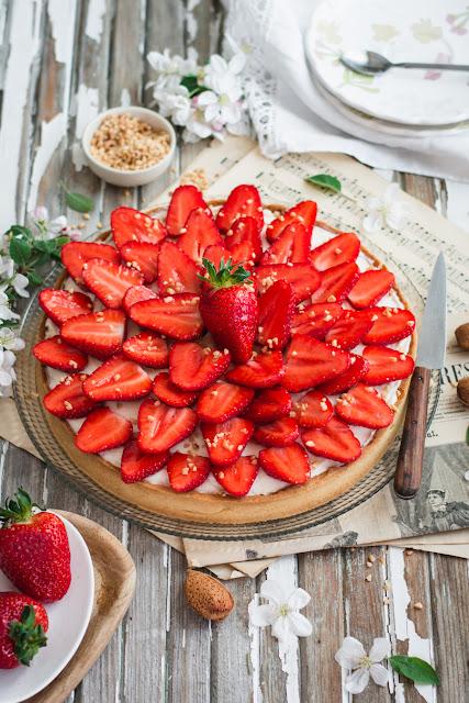 Recette de la tarte aux fraises et à la fleur d'oranger