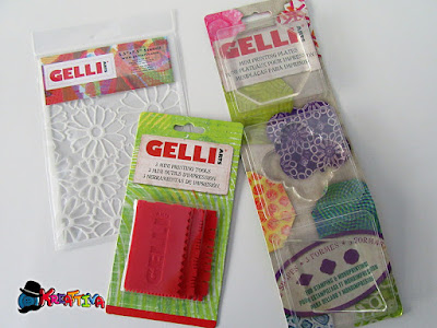 strumenti per la tecnica Gel Printing