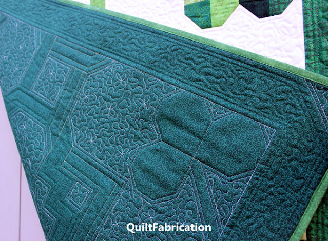 clover quilting on the backside of a quilt