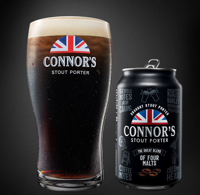 Connor's Stout Porter, a Draught Experience Now in Cans!