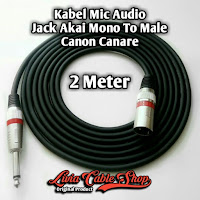 Kabel Mic Audio 2 Meter Jack Akai Mono To Male Canon Canare