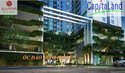 Phối cảnh dự án Seasons Avenue Mỗ Lao