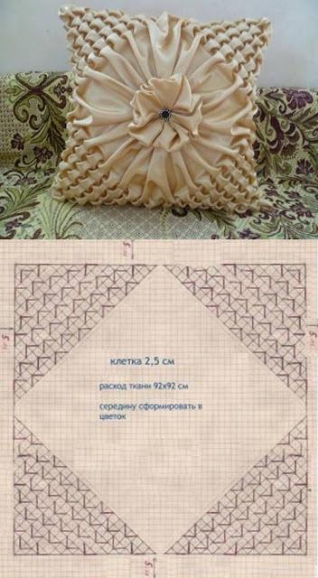 almofadas em capitonê com os diagramas para imprimir 3