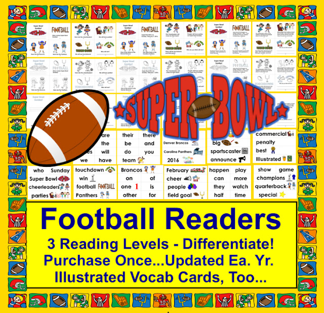 https://www.teacherspayteachers.com/Product/Football-Mini-Books-Updated-for-2019-Super-Sunday-3-Levels-Word-Wall-wPics-513612