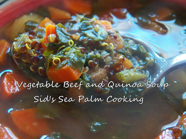 Vegetable Beef and Quinoa Soup