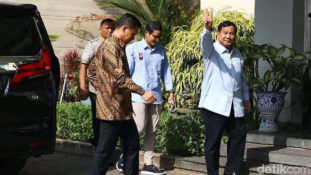 Prabowo-Sandi Bertamu ke SBY untuk Konsultasi Debat Pilpres