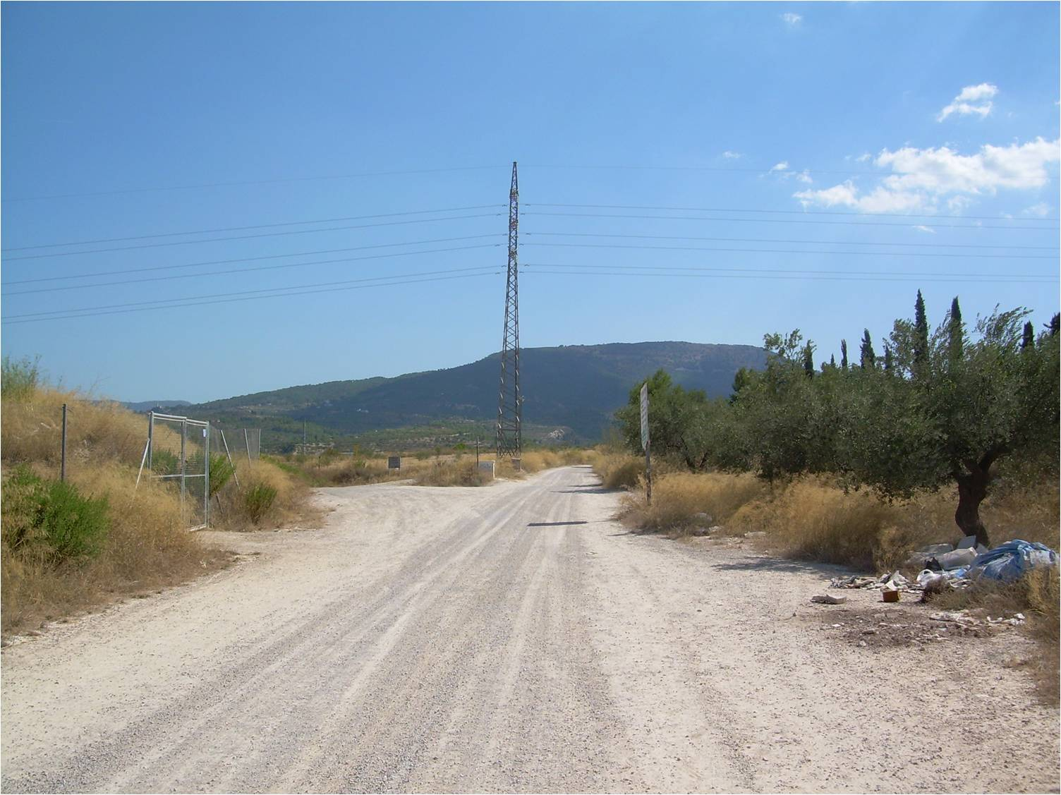 Route of Alcoy-Gandia railway in Cocentaina, Spain