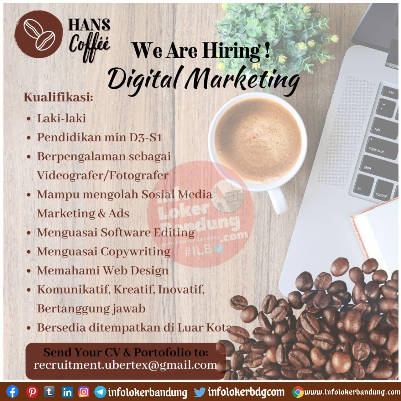 Lowongan Kerja Hans Coffee Bandung November 2020