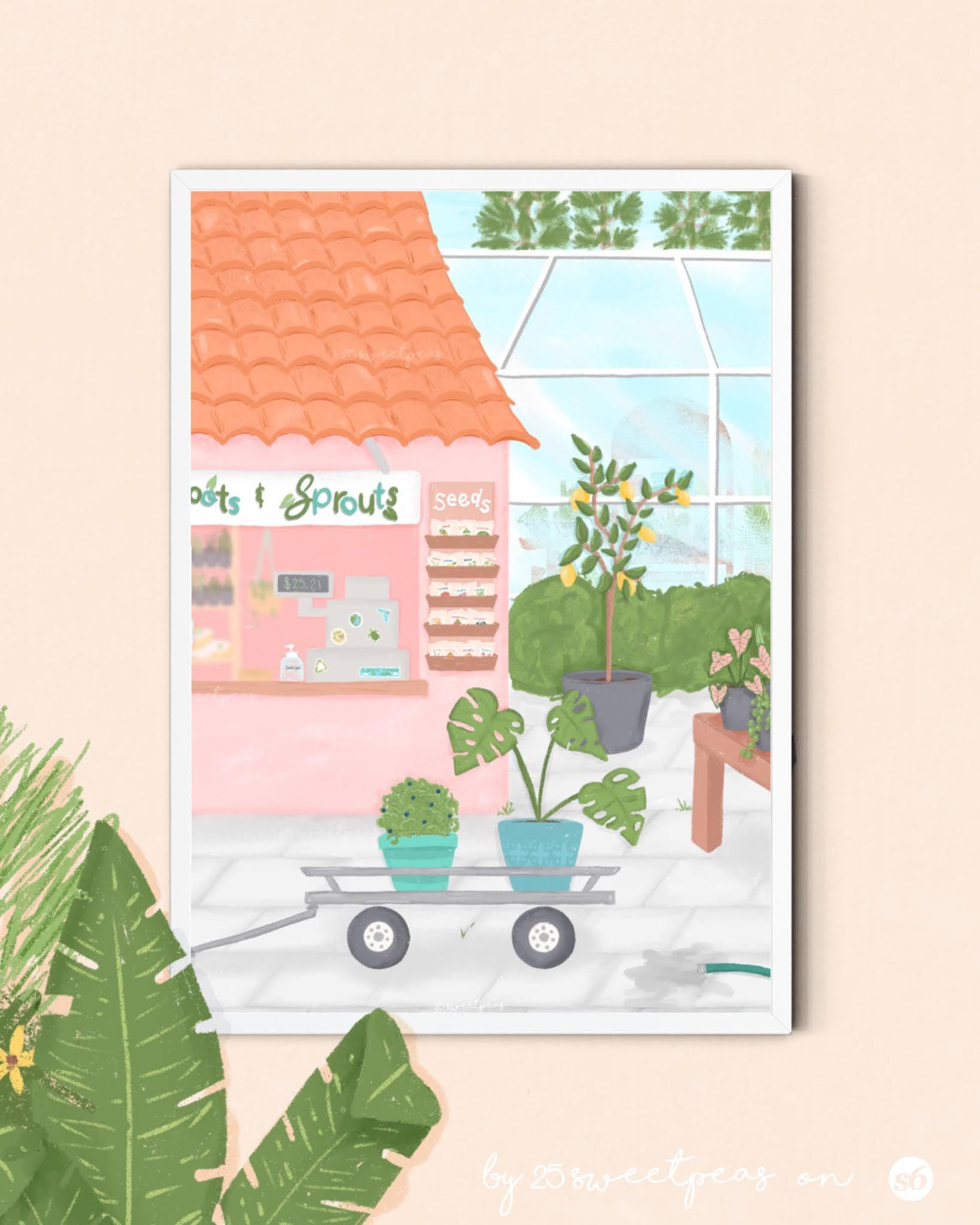 New Garden Shop Prints   25 Sweetpeas by Sarah