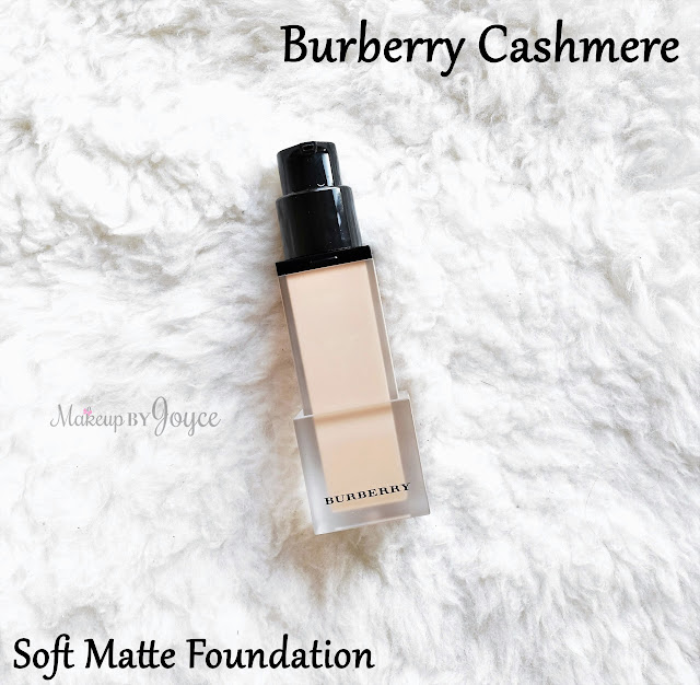 Burberry Cashmere Soft Matte Foundation Swatch MAC NC35
