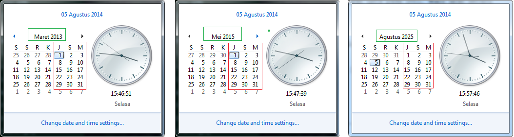 gambar Uniknya Bulan maret 2013, Mei 2015 dan Agustus 2025