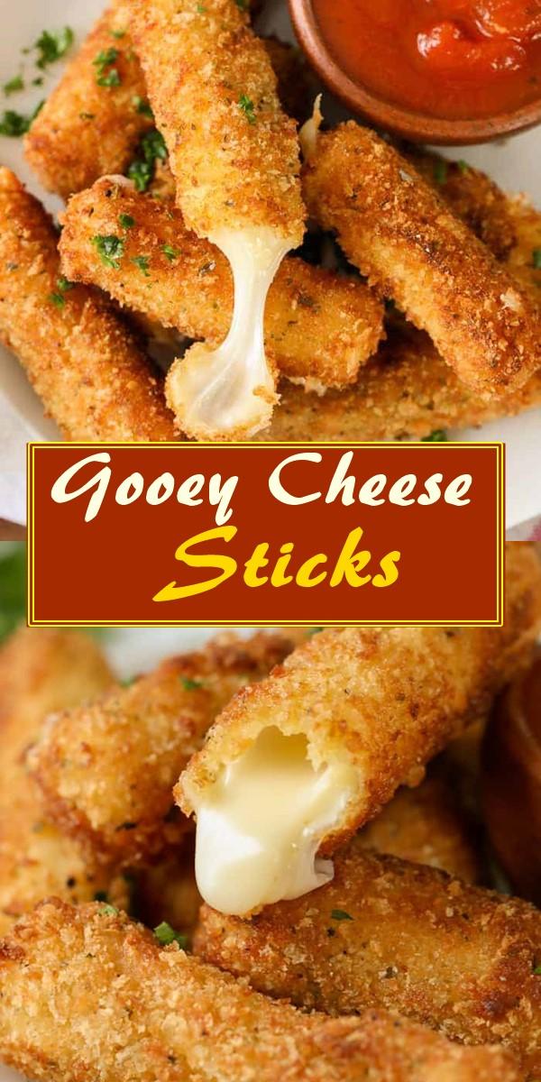Gooey Cheese Sticks #appetizerrecipes