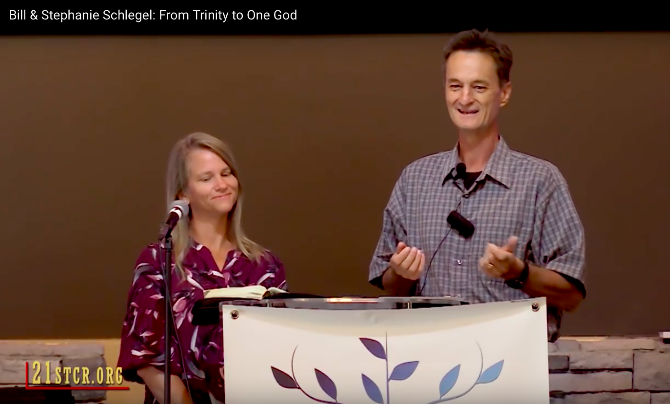 MUST READ: Bill & Stephanie Schlegel: From Trinity to One God.