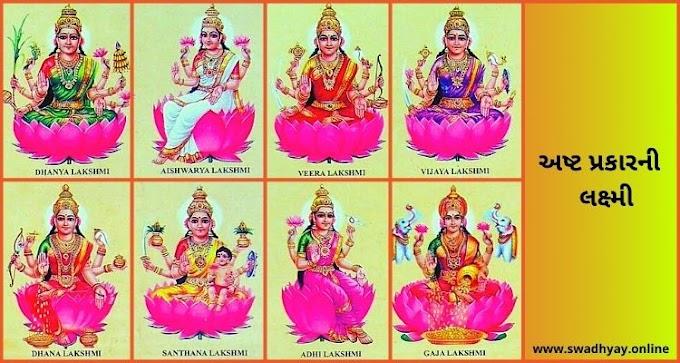 Dhanteras-Eight types of Lakshmi-Ashta Lakshmi-8 Divine Forms of Goddess Lakshmi