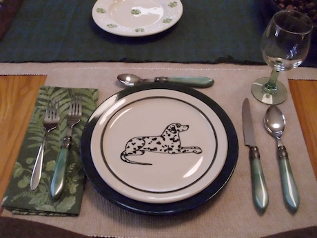 natural cotton placemat from homegoods last year dark green dinner plate from target eons ago karen donleavy dalmatian medium plate green woodland with home ... & Home Goods Dinner Plates. I Purchased The Several Years Ago When I ...