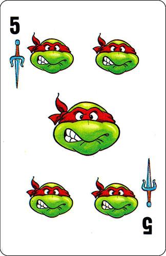 Baraja infantil Las Tortugas Ninja Fournier Carta Raphael 5