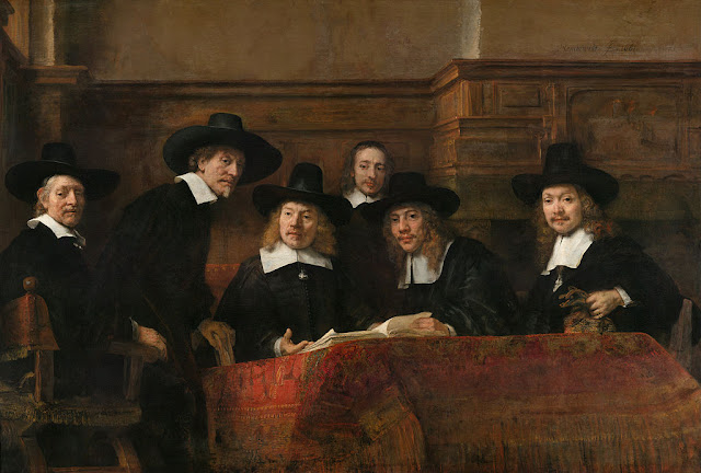 The Syndics of the Draper's Guild by Rembrandt