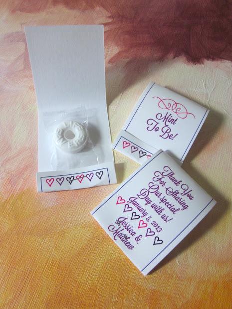 Constant Galore Mint Matchbook Wedding Party Favors