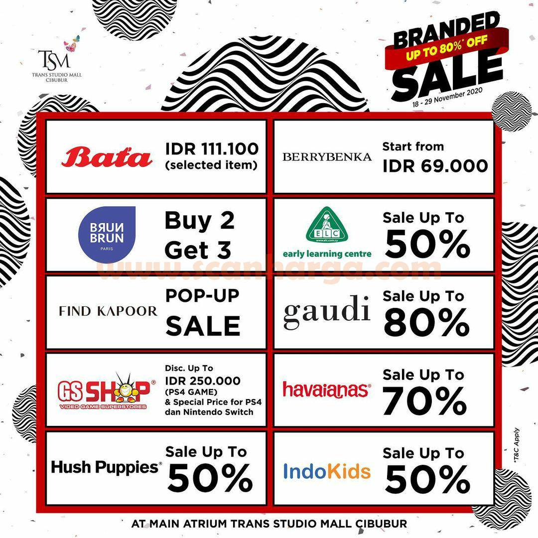 Trans Studio Mall Cibubur Present: Promo Branded Sale Bazaar Disc up to 80% Off 2