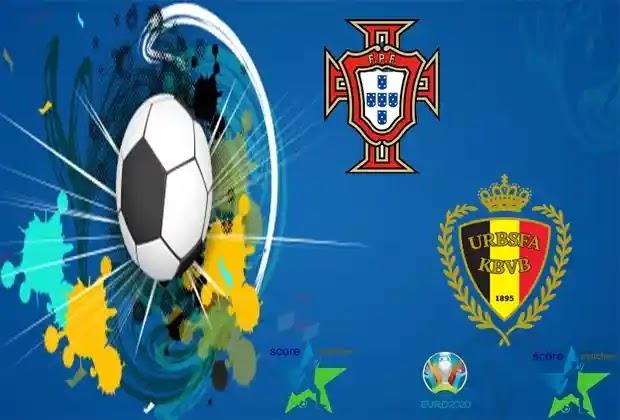 مباراة البرتغال وبلجيكا اليوم في اليورو 2020