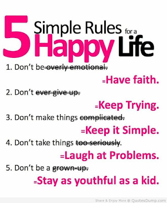 Quotes About Life And Happiness Tumblr: simple rules for a 5 happy life
