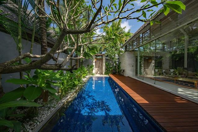Perpaduan antara taman minimalis dan taman tropis, foto: unsplash.com