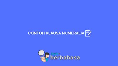 Contoh klausa numeralia