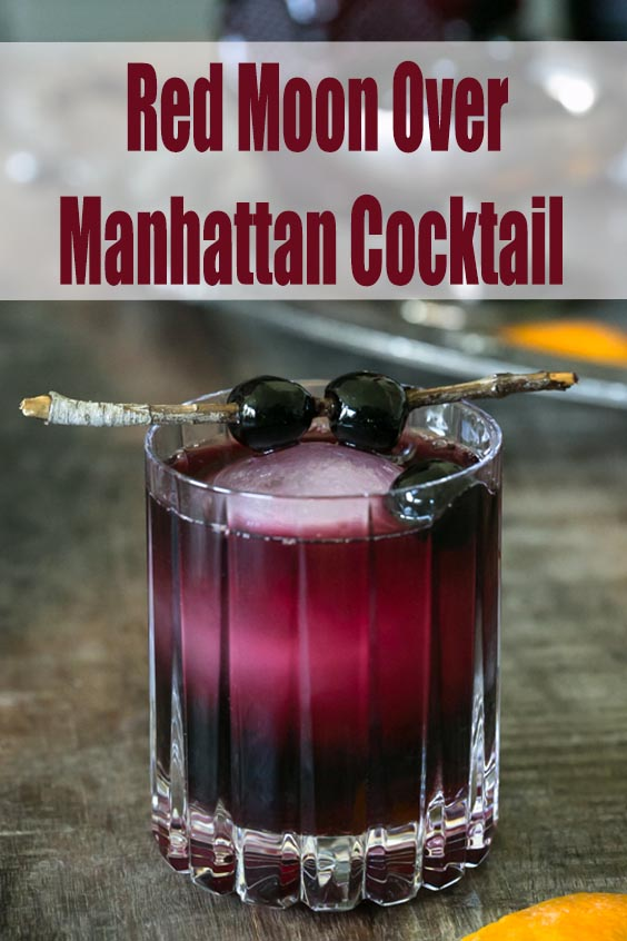 Red Moon Over Manhattan Cocktail